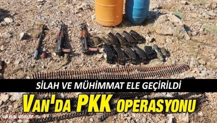 Van'da PKK operasyonu: Silah ve mühimmat ele geçirildi