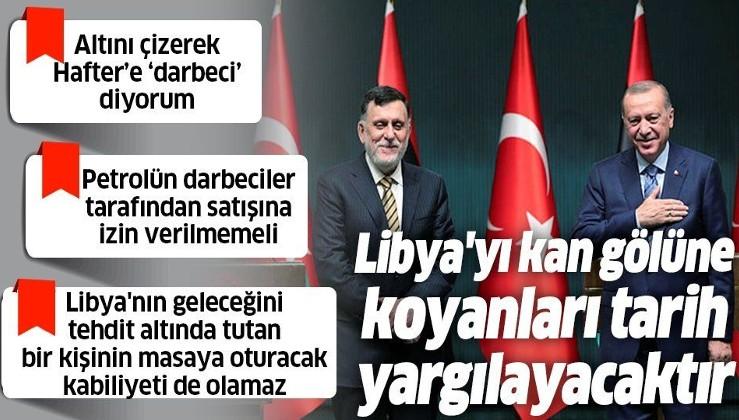 Ankara'da Cumhurbaşkanı Erdoğan ve Libya Başbakanı Fayiz es-Serrac'tan ortak açıklama!