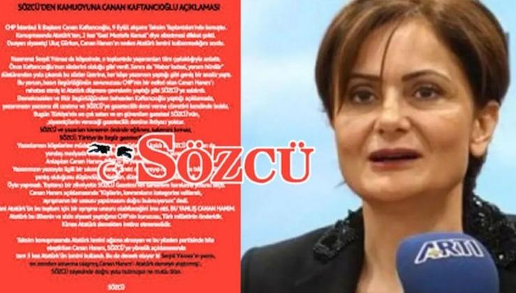 Sözcü gazetesinden Canan Kaftancıoğlu'na sert yanıt