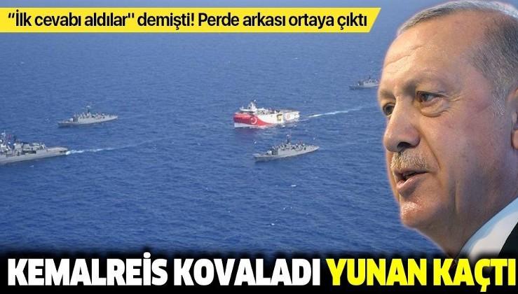 """Erdoğan'ın """"ilk cevabı aldılar"""" dediği gerilimin perde arkası ortaya çıktı: Yunan gemisi kaçtı"""