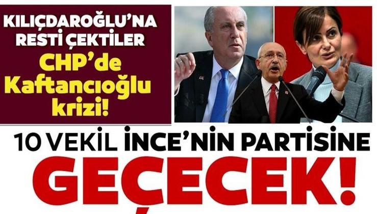 Son dakika: CHP'den 10 milletvekili Muharrem İnce'nin partisine geçecek