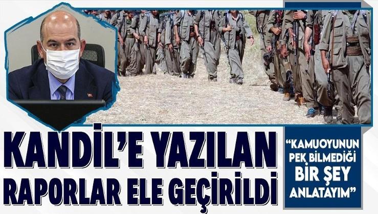 İçişleri Bakanı Süleyman Soylu son dakika olarak duyurdu: Kandil'e yazılan raporlar ele geçirildi