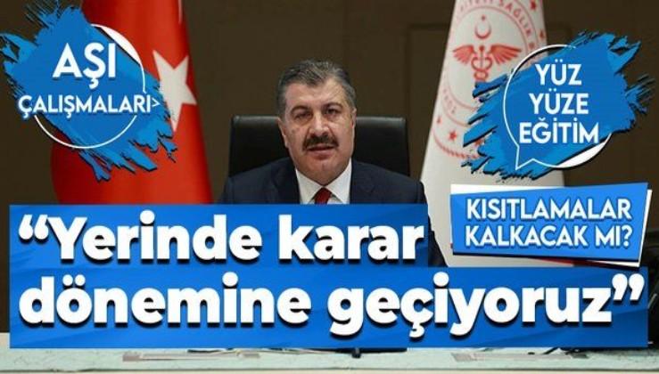 """Sağlık Bakanı Fahrettin Koca'dan Bilim Kurulu toplantısı sonrası açıklama: """"Yerinde karar"""" dönemine geçiyoruz"""