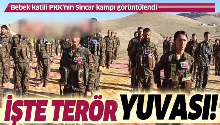 Son dakika: Bebek katili PKK'nın Sincar'daki kampları görüntülendi