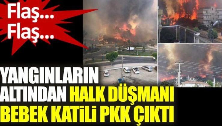Yangınların altından halk düşmanı bebek katili PKK çıktı
