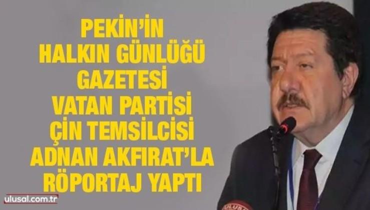 Çin devletinin sesinde Türk gazeteciyle röportaj