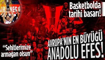 """Ergin Ataman """"Şampiyonluğu Türk halkına ve şehitlerimize armağan ediyoruz"""""""