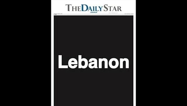 Lübnan'daki 'The Daily Star' gazetesi boş sayfalarla çıktı