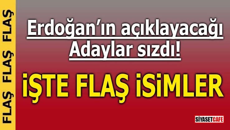 Erdoğan'ın açıklayacağı adaylar sızdı! İŞTE FLAŞ İSİMLER