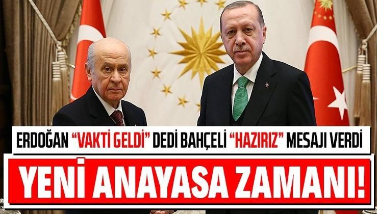 """Son dakika: MHP lideri Devlet Bahçeli'den Erdoğan'ın """"yeni anayasa"""" açıklamasına destek"""