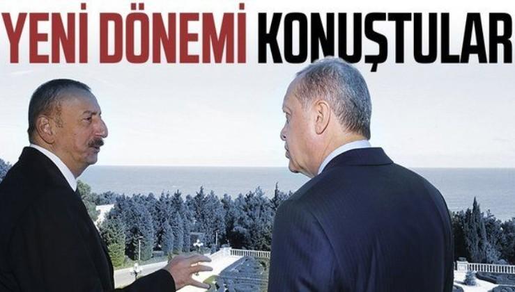 Erdoğan İlham Aliyev ile telefonda görüştü