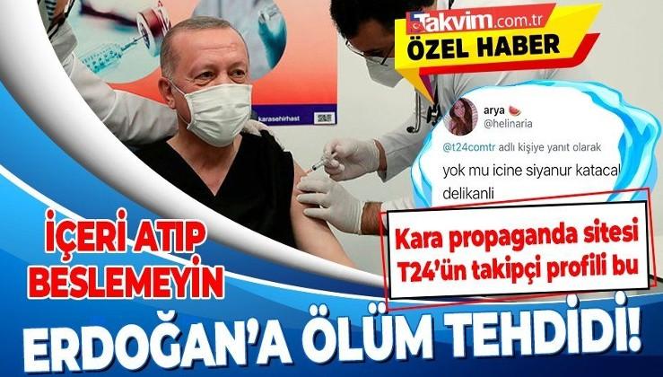 Kara propaganda sitesi T24'te skandal! Erdoğan'ın siyanürle öldürülmesini isteyen şüpheli bulundu