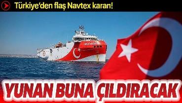 Son dakika: Türkiye'den flaş Navtex kararı! Oruç Reis'in görev süresi 27 Ağustos'a uzatıldı!