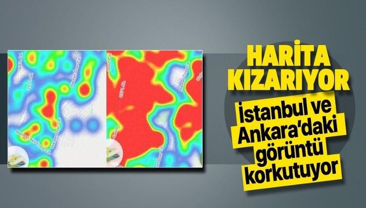 Koronavirüs yoğunluk haritaları kızardı! İstanbul ve Ankara'da Kovid-19 haritalarında korkutan tablo...