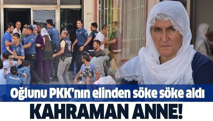 Son dakika! Kahraman anne Hacire Akar oğlu Mehmet Akar'ı PKK'nın elinden söke söke aldı.