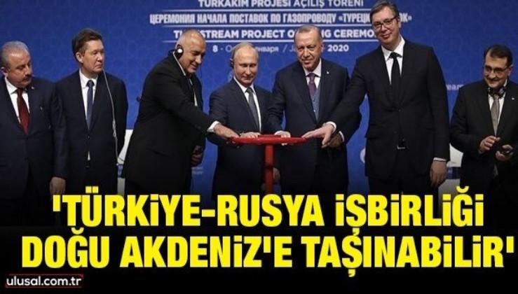 'Türkiye-Rusya işbirliği Doğu Akdeniz'e taşınabilir'