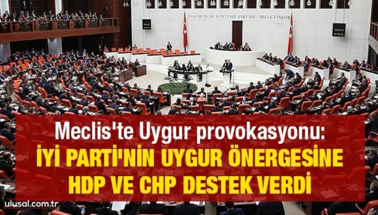 İyi Parti'nin Uygur önergesine HDP ve CHP destek verdi