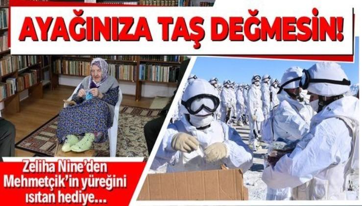 Zeliha Nine'den Mehmetçik'in yüreğini ısıtan hediye!
