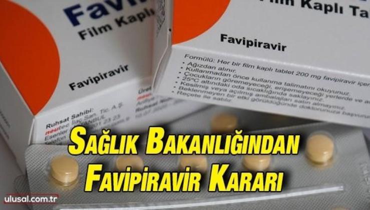 Sağlık Bakanlığından yeni karar: Favipiravir çocuklarda da kullanılabilecek