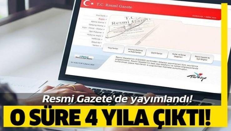 Resmi Gazete'de yayımlandı!