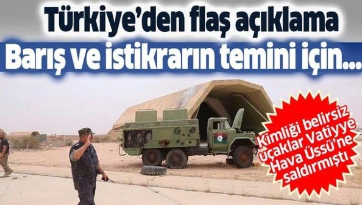 Son dakika: Türkiye'den Vatiyye Üssü'ne düzenlenen hava saldırısıyla ilgili flaş açıklama
