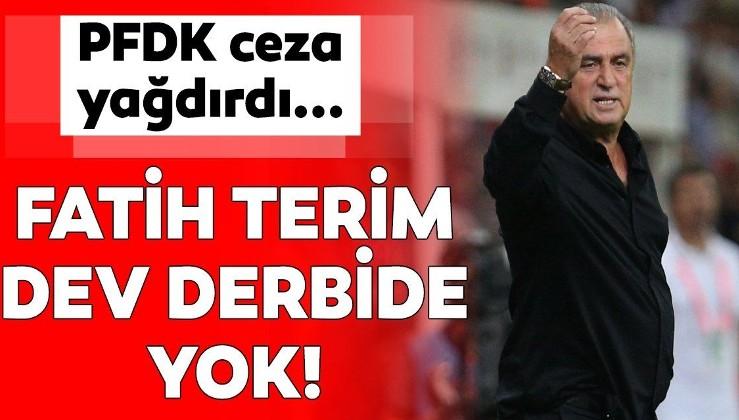 TFF-TERİM kavgası büyüyor! PFDK'dan Fatih Terim'e 4 maç men cezası