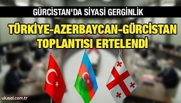 Gürcistan'daki gerginlik Türkiye-Azerbaycan-Gürcistan toplantısını erteletti