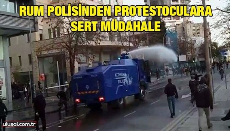 Rum polisinden protestoculara sert müdahale