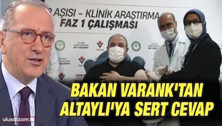 Bakan Varank'tan Altaylı'ya sert cevap