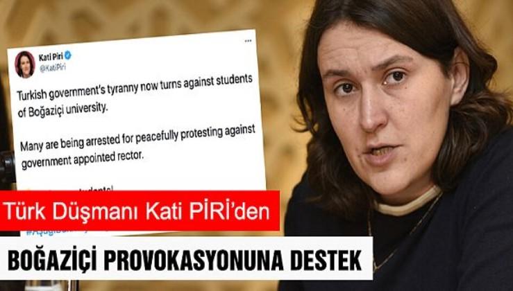 Demirtaş dostu ve Türk düşmanı Kati Piri Boğaziçi Üniversitesi provokasyonuna destek oldu!