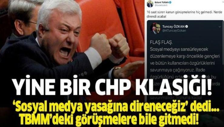 'Sosyal medya yasasına direneceğiz' diyen CHP'li Özkan TBMM'deki görüşmelere bile gitmedi!