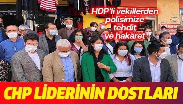 HDP'li vekillerden polisimize tehdit ve hakaret: Terbiyesiz, bana sicili söyle