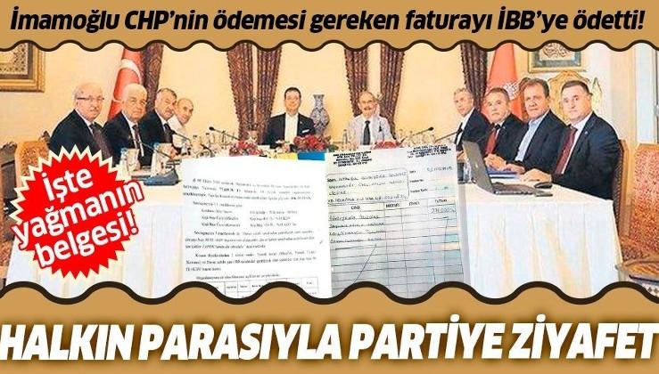 İBB Başkanı Ekrem İmamoğlu'ndan halkın parasıyla CHP'li başkanlara ziyafet