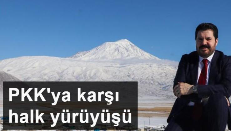 Ağrı'dan Diyarbakır'a PKK'ya karşı halk yürüyüşü