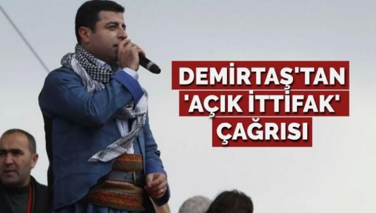 HDP'li Demirtaş'tan 'açık ittifak' çağrısı