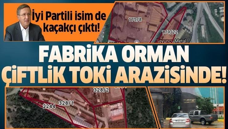 İyi Partili Lütfü Türkkan'ın fabrikası orman, çiftliği TOKİ arazisinde çıktı