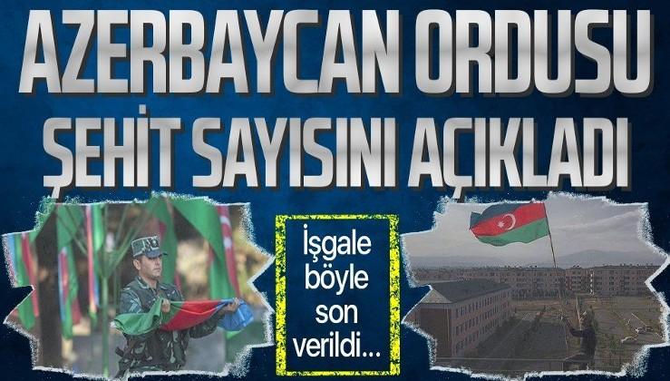Azerbaycan Savunma Bakanlığı: Azerbaycan ordusu, Dağlık Karabağ'daki savaşta 2 bin 881 şehit verdi