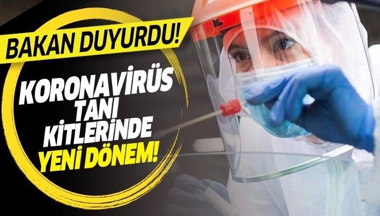 Bakan duyurdu: Koronavirüs tanı kitlerinde yeni dönem başlıyor