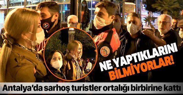 SON DAKİKA: Antalya'da alkolü fazla kaçıran kadın turistler ortalığı birbirine kattı