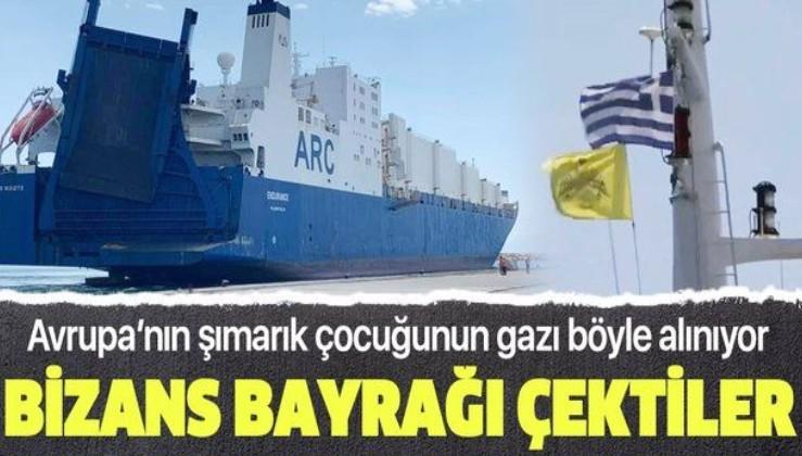 Türkiye'nin NAVTEX hamlesi sonrası Bizans ve Yunanistan bayrağını göndere çektiler