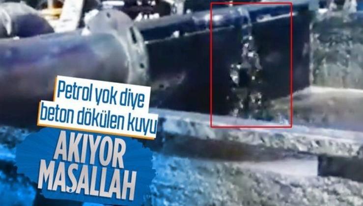 """Diyarbakır'da """"petrol yok"""" denilip üzerine beton dökülen kuyudan petrol fışkırıyor!"""