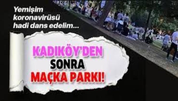 Kadıköy'den sonra Maçka da kendini gösterdi! Koronavirüsü takmadılar, dans ettiler
