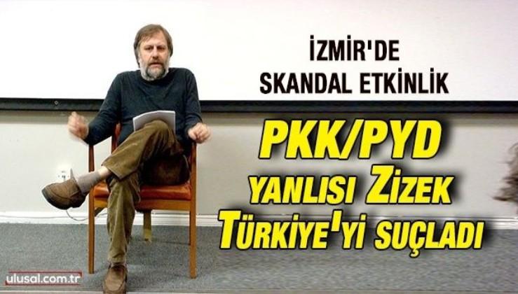 PKK yandaşı Slovaj Zizek İzmir Büyükşehir Belediyesi'nin etkinliğinde konuştu