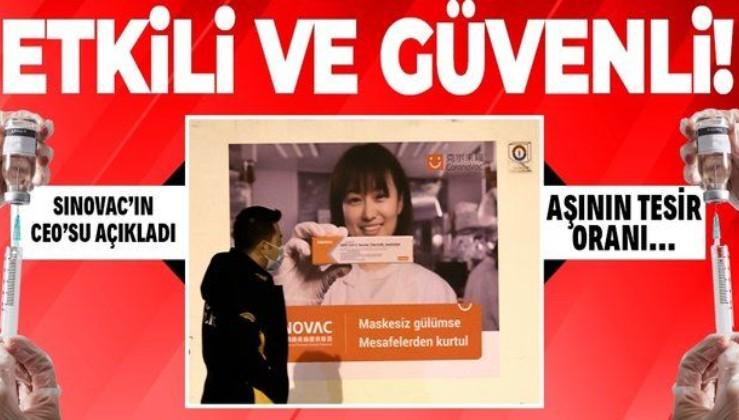 Çinli ilaç şirketi Sinovac'tan koronavirüs aşı CoronaVac'ın etkinliğiyle ilgili flaş açıklama