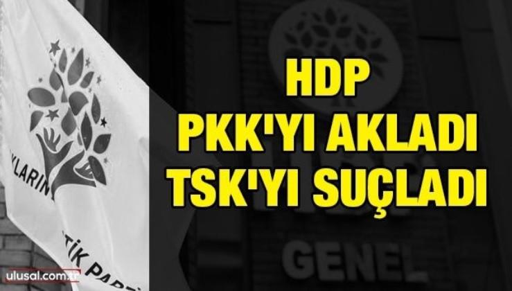 HDP PKK'yı akladı TSK'yı suçladı