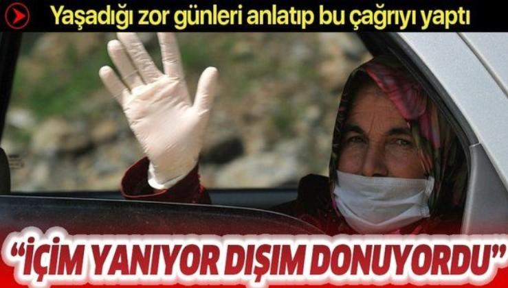 Bursa'da koronavirüsü yenen Havva Er: İçim yanıyor, dışım donuyordu