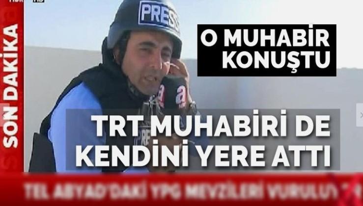 A Haber muhabiri, tartışma yaratan görüntüyle ilgili konuştu: TRT ekibi de kendini yere atıyor