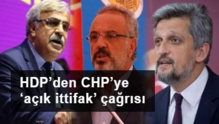 HDP'den CHP'ye 'açık ittifak' çağrısı