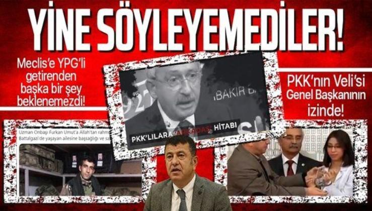 Meclis'e YPG'li terörist getiren CHP'li Veli Ağbaba ne şehit diyebildi ne de PKK!