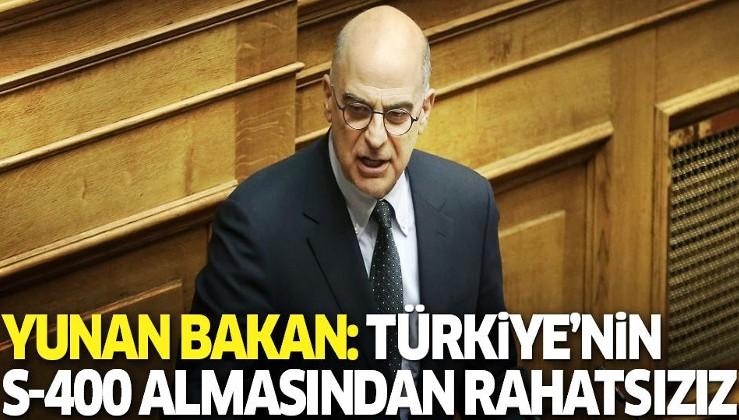 Yunanistan Dışişleri Bakanı: Türkiye'nin S-400 almasından rahatsızız